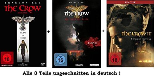 The Crow 1-3 Dvd Set, uncut, I,II,III, 1,2,3, Die Rache der Krähe, Tödliche Erlösung