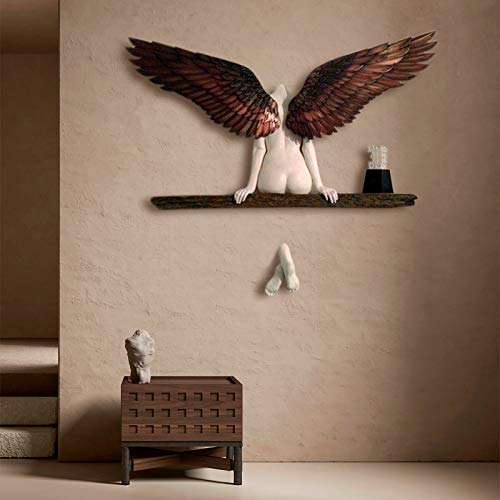 3d Engelsflügel Wandskulptur, Engelsflügel Wanddeko, Weinlese Engel Art Skulptur Wanddekoration Statue, Für Wohnzimmer Schlafzimmer Home Dekoration Ornamentgeschenk.