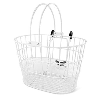 Colorbasket Mesh Bottom Lift-Off Bike Basket, White