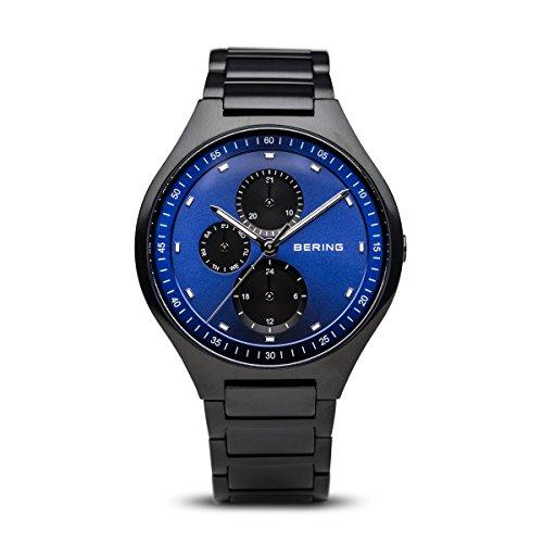 BERING Herren Analog Quarz Titanium Collection Armbanduhr mit Titan Armband und Saphirglas 11741-727