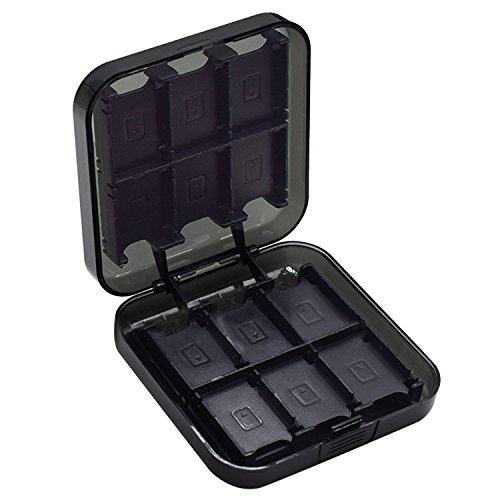 Tragbar ABS Aufbewahrungsbox 24-slot Hartschale porte-étuis Aufbewahrung Zubehör für Nintendo Switch NS NX Karten-Spiel Schwarz