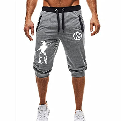 Summer Men's Personality Anime Dragon Ball Trend Wukong Leisure Sports Bundle Tether Shorts XXL