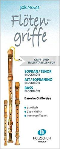 Jede Menge Flötengriffe: Griff- und Trillertabellen barocke Griffweise im Set: Griff- und Trillertabellen, barocke Griffweise, im praktischen Schuber.