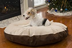 image of caddis super soft round sherpa dog bed