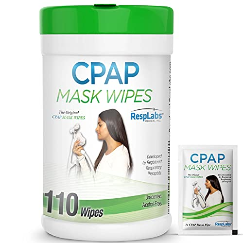 RespLabs CPAP Mask Wipes - 1x 110 Pack Bottle - Alcohol-free,...