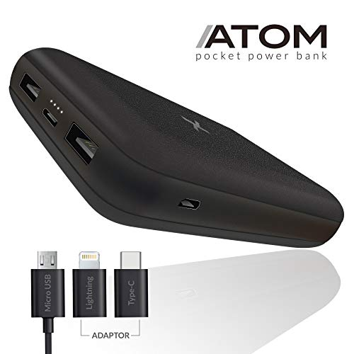 BAXET usefulness accessories Powerbank 10000mAh MULTIPORT | Caricatore Portatile Ultra Compatto a Ricarica Veloce | Power Bank Fast Charge Alta capacità | Carica Batterie Portatile Universale