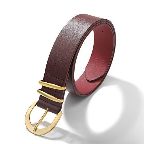 guodong Americana Cinturón De Todo Fósforo Bob Esponja Rojo Señoras Aleación Redonda Hebilla Japonesa Cinturón Decorativo Ventas Directas De Fábrica