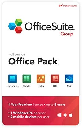 OfficeSuite Group Compatible with Microsoft Office Word Excel PowerPoint and Adobe PDF for PC product image