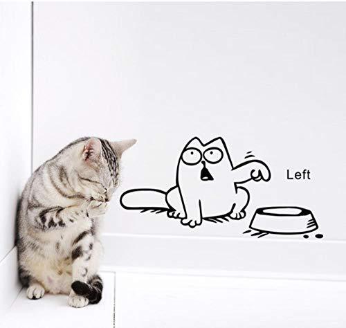 Wandtattoos Wandbilderlinke Lustige Katze Braucht Essen Wohnkultur Wandaufkleber Niedliche Küche Zoohandlung Auto Aufkleber Für Kinderzimmer