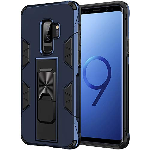 Samsung Galaxy S9 Plus Case Galaxy S9+ Case Military Grade Shockproof with Kickstand Stand Built-in Magnetic Car Mount Armor Heavy Duty Protective Case for Galaxy S9 Plus Phone Case (Blue)