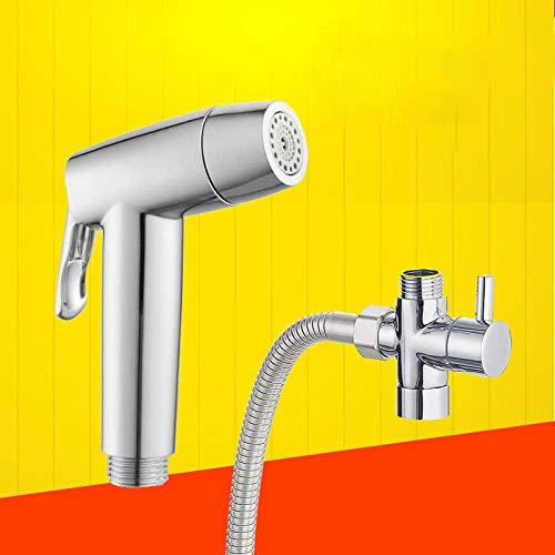 Bidet doccia con doccetta con supporto,Juego de pistola rociadora para inodoro bidé, doble función, agua blanda, agua fuerte a presión-A3