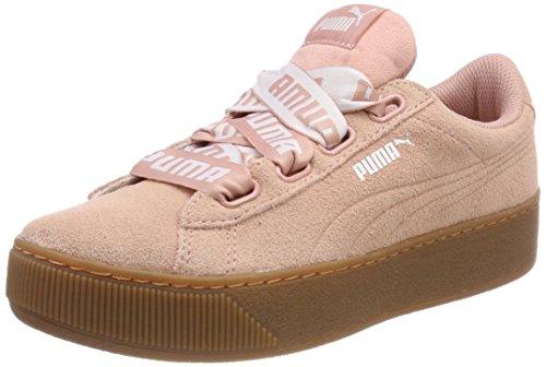 PUMA Damen Vikky Platform Ribbon Bold Sneaker, Beige (Peach Beige), 40 EU