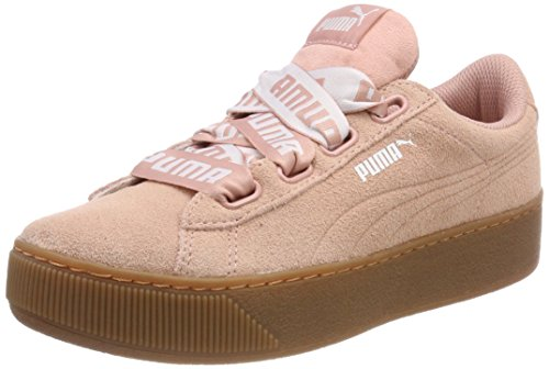 Puma Vikky Platform Ribbon Bold, Sneaker Donna, Peach Beige, 38 EU