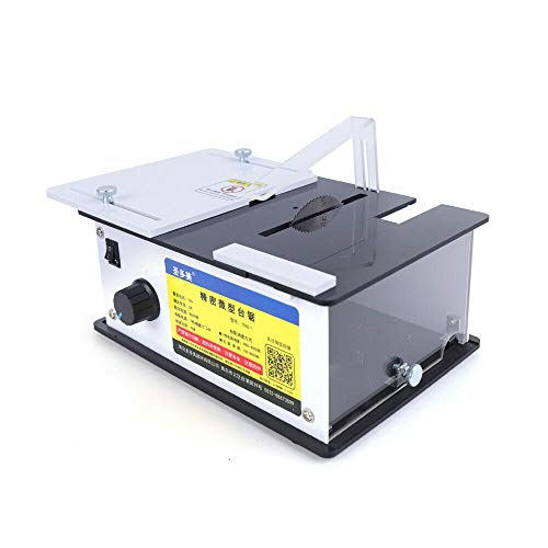 DENESTUS Electric Table Saw Portable Mini Electric Precision Table Saw Woodworking DIY Bench Saw 8000 RPM Cutting for Wooden Model Metal Tile Art Craft USA Stock