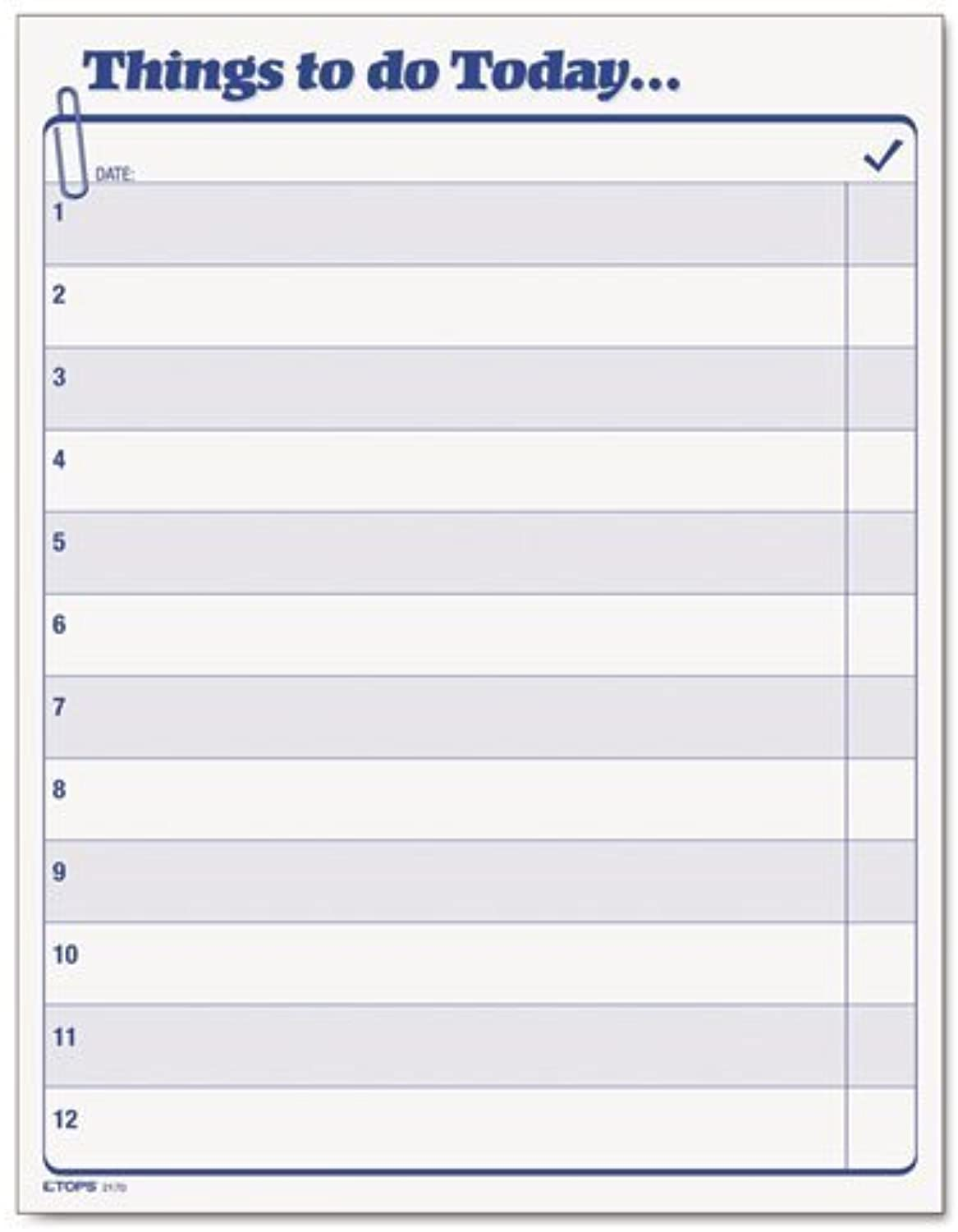 TOPS  Things To To To Do Today  Daily Agenda Pad, 8 1 2 x 11, 100 Forms by Tops B018REI8XG | Große Ausverkauf  b3013c