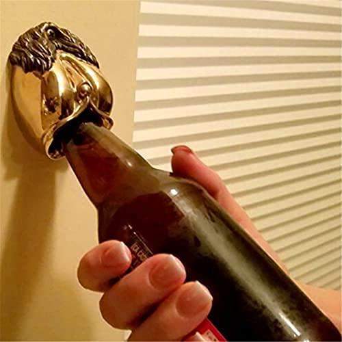 Abrebotellas montado en la pared de bronce fundido escultura: La diosa, abrelatas de cerveza decoración del hogar, abrelatas de cerveza sólidos y duraderos, accesorios geniales