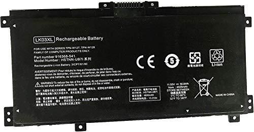 Batterymarket New LK03XL Laptop Battery Compatible with HP Envy 17 17-AE143NG 17M-AE0XX Envy X360 15-BP000 15-BP107TX 15M-BP000 15M-BP012DX 916814-855 916368-541 TPN-W127 TPN-W128 TPN(11.55V 55.8Wh)