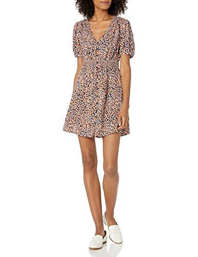 French Connection Women's Jersey Wrap Dresses, Jaffa Orange Multi, 4