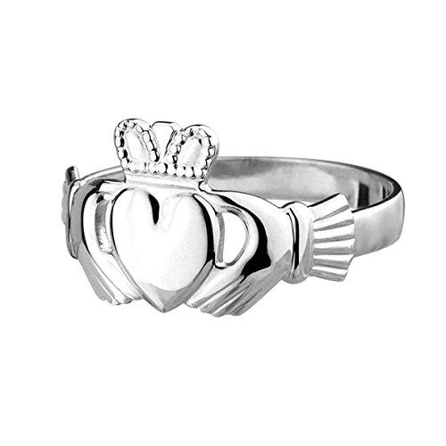 Claddagh Ring. Irischer Freundschaftsring. Sterling Silber Größe 66