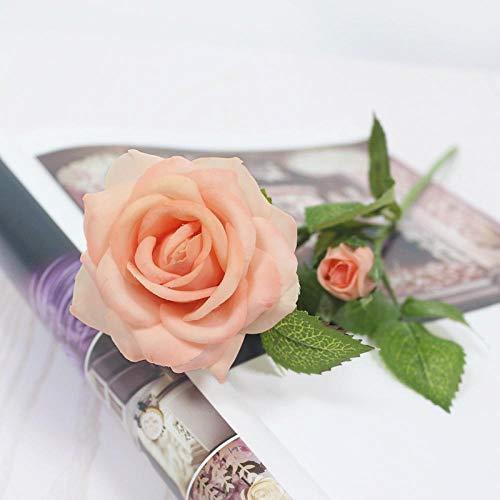 Künstliche Blume Künstlicher Latex Real Touch Rose 34Cm Home Decoration Gefälschte Blume Hochzeit Hochzeit Artificiais Party Neujahr Deco Champagner