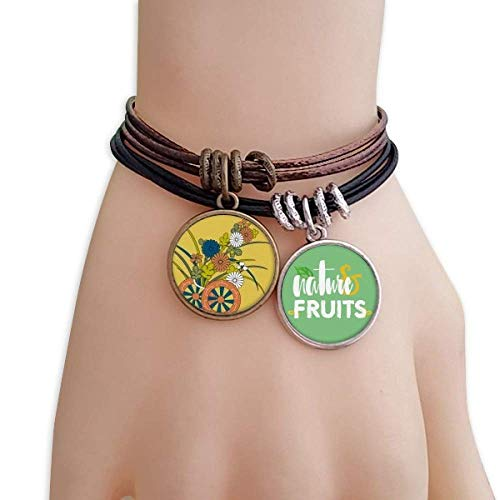 DIYthinker Autumn Japanese Culture Flower Bracelet Rope Natural Fruit Wristband