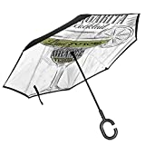 Car Reverse Umbrella,Ingredients Of Margarita Sketch Lime Juice Liqueur Orange And Tequila,With...