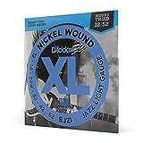 D'Addario Nickel Wound Electric Guitar Strings, 1-Pack, Jazz Light, 12-52