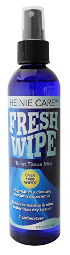 Fresh Wipe Toilet Tissue Spray- Instantly turn your toilet paper into a wipe. Don't clog toilets. 1400 sprays per bottle. (8oz)