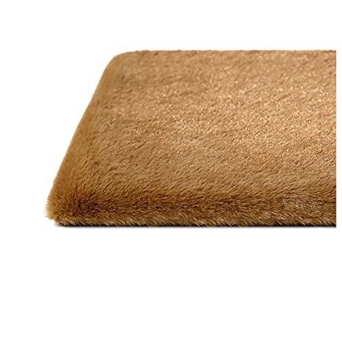 GERYUXA Cojín de felpaCojín para Silla capitonéCojín para Banco, para Exteriores,jardín, Columpio Interior, sofá, Zapatero (Size:40x40cm,Color:marrón)