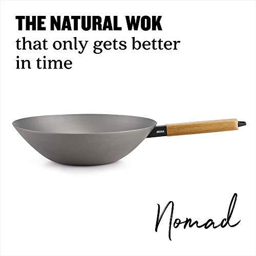 Beka 13970314 Nomad - Sartén Wok, Acero al Carbono, Diámetro 31 cm