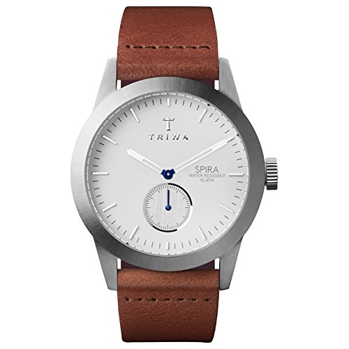 Triwa Ivory Spira SPST102CL010212 White/Brown Leather Analog Quartz Unisex Watch