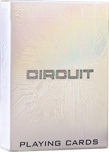 Circuit Rainbow White Playing Cards with FREE Card Game eBook, Creative Deck of Cards, Premium Card Deck, Cool Poker Cards, Unique Bright Colors for Kids & Adults, Computer Themed, Black Playing Cards