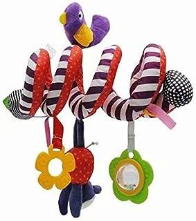 RICISUNG かわいい 赤ちゃん 子供 ベビーカー ベッド 渦巻き ぶら下げ ベル ラトル 柔らかい おもちゃ