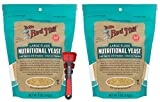 Bob's Red Mill Yeast Nutritional 5 Oz Bundle with Swivel Measuring Spoons by Westkitch (2 Pack)