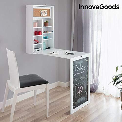 InnovaGoods stół, drewno, biały, 80 x 50 x 18 cm
