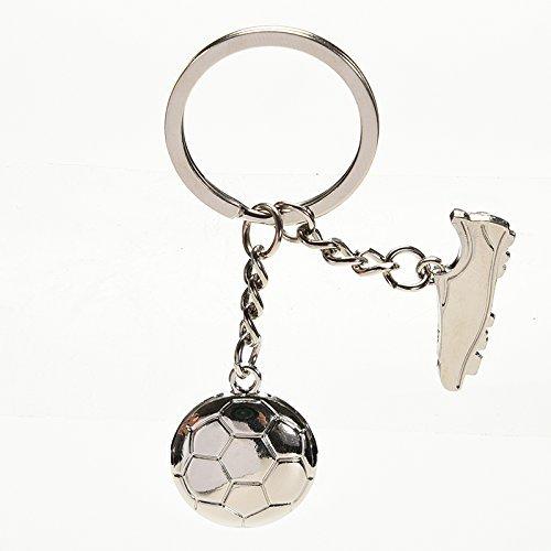 Meyfdsyf Fashion metal palloni da calcio e stivale portachiavi per present