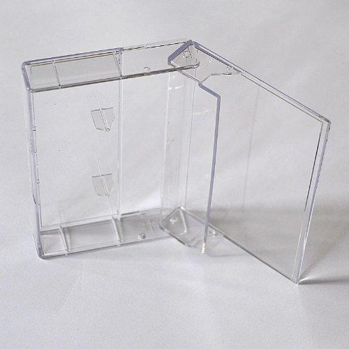 Musik-Cassettenhüllen/Leerhüllen, MC-Kassetten-Hüllen, transparent-hochklar (100 Stück)
