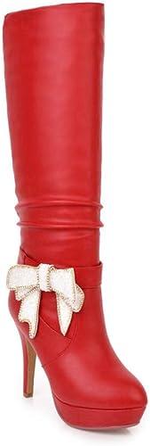 Bottes Au Genou pour Femmes De La Mode 2018 Hiver Nouvelle Plate-Forme Bottes à Super Talon Et à Talon Haut Taille 32-43