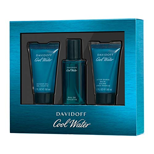 Davidoff Cool Water geurset (eau de toilette, 40 ml + douchegel, 50 ml + aftershave balsem, 50 ml), per stuk verpakt (1 x 300 g)