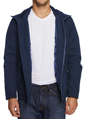 Nautica Crinkle Nylon Full Zip Chaqueta, azul marino, S para Hombre