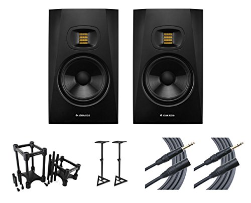 Best Price! 2x ADAM T7V + IsoAcoustics + Stands + Mogami Cables