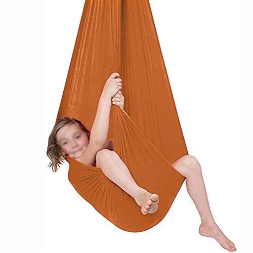 NS Hamaca Oscilación Columpio De Terapia Tela Colgante Infantil De Jardin Exterior Interior para Niños con Autismo Capacidad De Carga 200Kg (Color : Orange, Size : 150x280cm/59x110in)