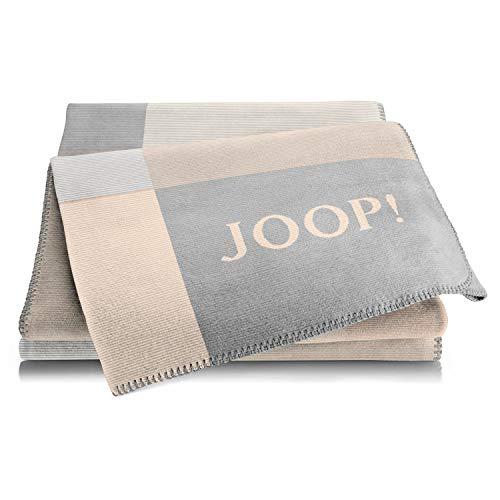 Joop! Plaid Mosaic   Sand-Rauch - 150 x 200