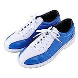 WJFGGXHK Mens Bowling Chaussures Cuir Bols Chaussures Légers Entraîneurs De Bowling Respirant Unisexe,Bleu,45 EU