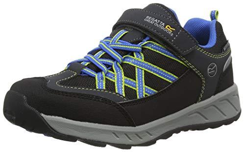 Regatta Samaris V Low' Waterproof Breathable Hoop & Loop Fastening Lightweight Walking Shoes, Briar/French Blue, 30 EU
