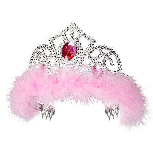 Boland 44076 - Tiara Jasmin, Krone, Diadem, Prinzessin, Fee, Kunststoff, glänzend, Karneval, Fasching, Mottoparty, Theater, Verkleidung