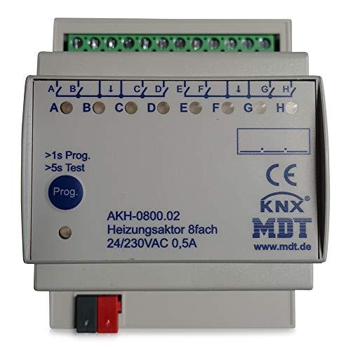 MDT® KNX Heizungsaktor 8-fach / 4TE / 24-230V (AC) > AKH-0800.02