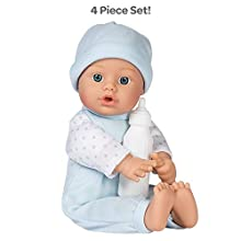 """Adora Sweet Baby Boy """"Peanut"""", 11-inch Baby Doll, 100% Machine Washable, Comes with Baby Bottle, for Toddlers Age 1+"""