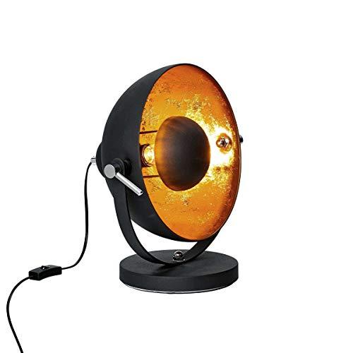 Butlers SATELLIGHT Tischleuchte Rost-Braun- Lampe im Retro-Design - ideale Innenraum Beleuchtung - Industrial Look für Ihr Schlaf- und Wohnzimmer