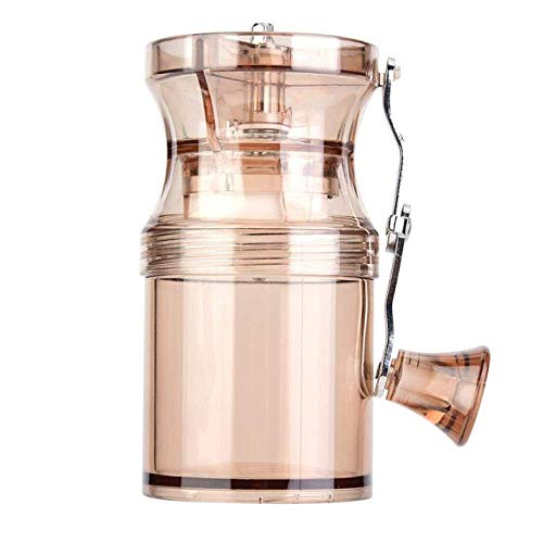 Review Portable Manual Coffee Grinder Bean Grinder Ceramic Grinding Core Home Office, Gold (Color : ...